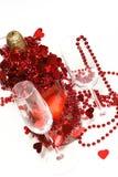 Champanhe do Valentim foto de stock royalty free