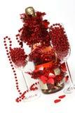 Champanhe do Valentim fotos de stock