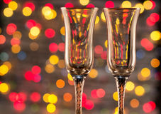Champanhe e fogos-de-artifício do frasco Imagens de Stock Royalty Free