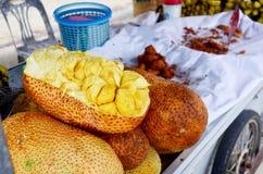 Champedak or Artocarpus integer at market Royalty Free Stock Photos