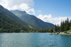 Champex-Lac lake Royalty Free Stock Photo