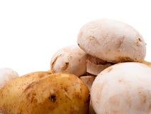 Champiñones y patatas Fotos de archivo