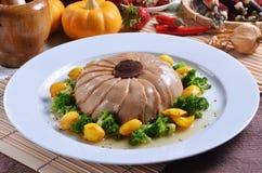 Champignon braisé d'ormeau avec de la sauce à huître photo libre de droits