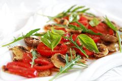 Champignon Carpaccio Stock Photo