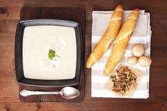 Champignon cream soup. Royalty Free Stock Image