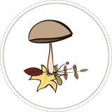 Champignon d'automne illustration libre de droits