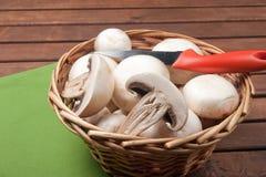 Champignon de champignon de paris Photo libre de droits