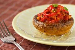 Champignon de couche bourré des légumes Photos libres de droits