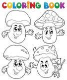 Champignon de couche de livre de coloriage Photo stock