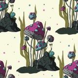 Champignon de la bande dessinée 3d Vecteur illustration stock