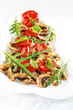 Champignon de paris Carpaccio Images stock