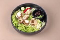 Champignon et légume en bambou frais bouillis avec des Di rôtis de piment Images stock