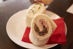 Champignon et sandwich au jambon Image stock