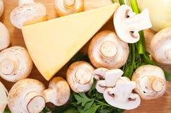 Champignon mushroom with cheese Royalty Free Stock Photos