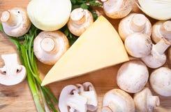 Champignon mushroom with cheese Stock Photo