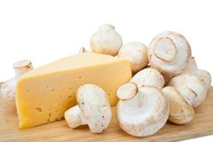 Champignon mushroom with cheese Royalty Free Stock Photography