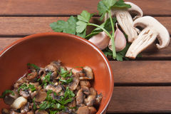 Champignon mushroom. Dish of traditional Italian cuisine Stock Photography
