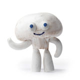 Champignon mushroom mascot Royalty Free Stock Photos