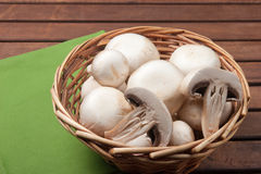 Champignon mushroom. Vegetables for appetizer and side dish Royalty Free Stock Photo