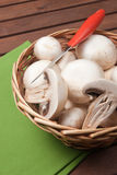 Champignon mushroom. Vegetables for appetizer and side dish Royalty Free Stock Photos