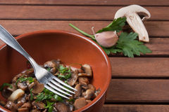 Champignon mushroom. Vegetables for appetizer and side dish Stock Photo
