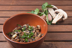 Champignon mushroom. Vegetables for appetizer and side dish Stock Photography