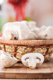 Champignon mushrooms Stock Photo
