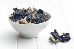 Champignon noir chinois sec Oreille de gelée Image libre de droits