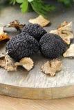 Champignon noir rare cher de truffe Images stock