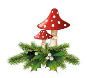 Champignon rouge Photo stock