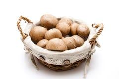 champignons корзины коричневые Стоковая Фотография