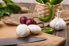 2 champignons с овощами Стоковая Фотография RF