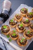 Champignons с печеньем слойки Стоковая Фотография RF