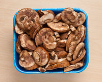 Champignons in box. Stock Photo