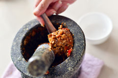 Champignons d'eringi de piment Photo libre de droits