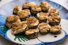 Champignons de couche bourrés Photo libre de droits