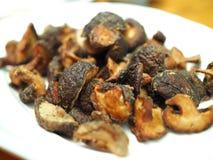 Champignons de couche de shiitaké frits Image libre de droits