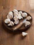Champignons de couche frais Photo libre de droits