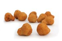 Champignons de couche frits d'ail Photo libre de droits