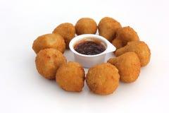 Champignons de couche frits d'ail Photo stock
