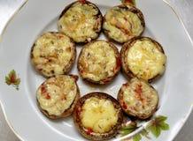 Champignons de couche grillés Image libre de droits