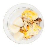 Champignons de couche grillés de poulet Images stock