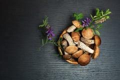 Champignons de couche Ingrédients d'aliment biologique Photographie stock