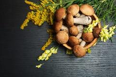 Champignons de couche Ingrédients d'aliment biologique Images stock