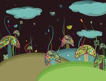 Champignons de couche magiques Image libre de droits