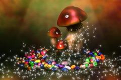 Champignons de couche magiques images stock