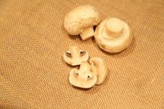 Champignons de couche organiques Photographie stock