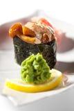 Champignons de couche épicés Gunkan Photo stock