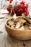 Champignons de couche secs de Porcini Image stock