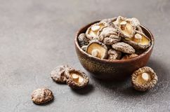 Champignons de couche de shiitake secs image libre de droits
